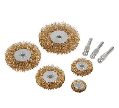 SILVERLINE 5pc Wire Wheel & Cut Brush Set